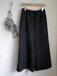 ワイドパンツブラックヘリンボーン - yunoのアトリエ