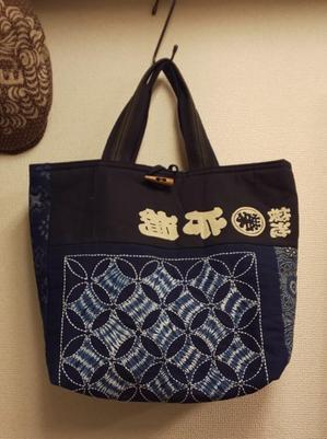 古布 バックとハンチング - 江戸小物・和雑貨店「神田 ちょん子」