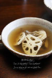 温かなスープを。 - La cuillère d' Eve ~ おうちおやつや菜穀ごはん