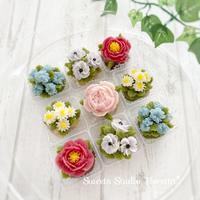 レッスンレポートALA「花おはぎ」秋冬バージョン - Sweets Studio Floretta* Flower Cake & Sweets Class@SHIGA