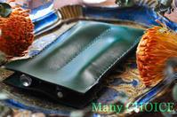 イタリアンレザー・ブッテーロ・2本差しペンケース・時を刻む革小物 - 時を刻む革小物 Many CHOICE~ 使い手と共に生きるタンニン鞣しの革