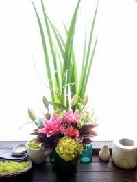 四十九日にアレンジメント。北郷9条にお届け。2021/01/14。 - 札幌 花屋 meLL flowers