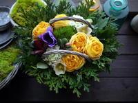 ご両親の金婚式にアレンジメント。2021/01/17。 - 札幌 花屋 meLL flowers