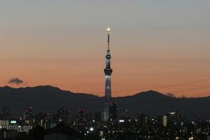 東京スカイツリーと奥多摩の山々 - そらいろのパレット