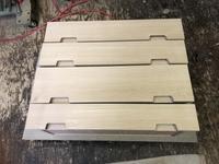 電話台収納の抽斗と塗装 - 手作り家具工房の記録