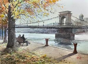 ブダペスト - 赤坂孝史の水彩画