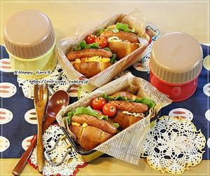 パン弁・ホットドッグとクリームシチュー弁当 - ☆Happy time☆