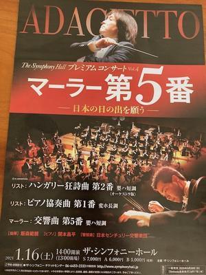 プレミアムコンサート マーラー5番 ザシンフォニーホール - いちじく日記*てんかんをご存知?*