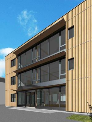 超高性能木造3階建て東北住建社屋:基礎工事 - 家づくり西方設計