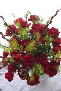 赤い薔薇で気持ちも高揚(^^♪ - お花に囲まれて