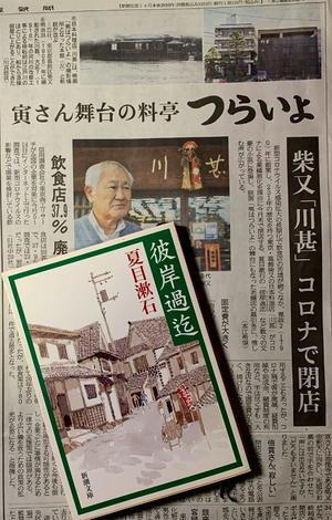 柴又「川甚」閉店と漱石と安野光雅先生 - 画家・棚倉 樽のアートギャラリー
