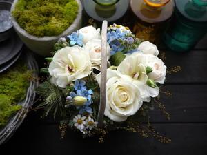 お誕生日のアレンジメント。「ディズニーのイメージ」。菊水4条にお届け。2021/01/24。 - 札幌 花屋 meLL flowers