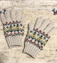 手袋,編めました♪ - 笑う門には福来たる
