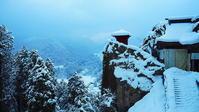 山寺雪の静寂 - 風の香に誘われて 風景のふぉと缶