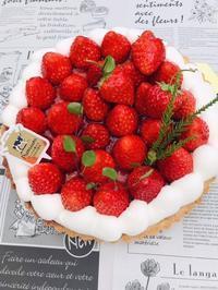 イチゴのタルト - *田園菓子のおくりもの工房…  里桜庵Riou-an