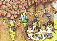 ★桜の下で笑おうね - 羽根をつけて
