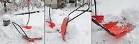 この冬最初の雪かきで、ママさんダンプ最後の働き - 軽井沢のニホンザル  軽井沢サル・ネット