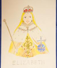 エリザベス女王~戴冠式(映画「エリザベス」より)【イラスト】とジュビリーセレブレーション(2020年撮影) - DOUBLE RAINBOW 2