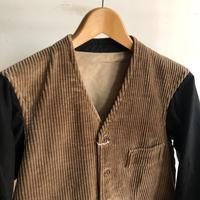 Corduroy/Black Cotton Sleeves, Antique Gilet Jacket - DIGUPPER BLOG