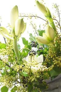 コース的パリスタイル金澤でコンポジション集中レッスン - お花に囲まれて