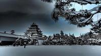 雪の会津若松城天守閣 - 風の香に誘われて 風景のふぉと缶