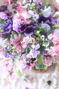 1月Living flowerクラス『春のフリフリBouquet』 - Le vase*  diary 横浜元町の花教室