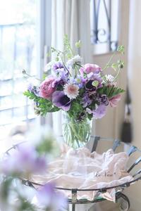 1月Basicクラスレッスン「ガラス花器にアレンジ」 - Le vase*  diary 横浜元町の花教室
