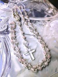 No.24  ローズクォーツと水晶のロザリオ - Mistletoe