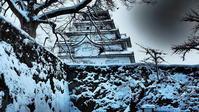 会津若松城雪の石垣と天守閣 - 風の香に誘われて 風景のふぉと缶