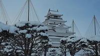 雪吊りと天守閣会津若松城 - 風の香に誘われて 風景のふぉと缶