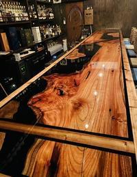 ウッドレジンBarカウンターDIY - SOLiD「無垢材セレクトカタログ」/ 材木店・製材所 新発田屋(シバタヤ)