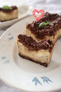 (レシピ)とろうま♪コーヒーマーブルチーズケーキ - おうちカフェ*hoppe