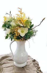 家族揃って花修行 - お花に囲まれて