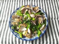 今年も、アサリと菜の花の蒸し煮 - Minha Praia