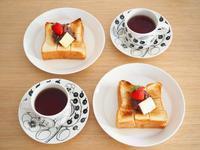 あんバタートーストの朝ごはんと、読書♪ - 365のうちそとごはん*:..。o○☆゚