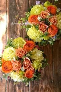 ビタミンカラーのフラワーアレンジメント。 - 花色~あなたの好きなお花屋さんになりたい~