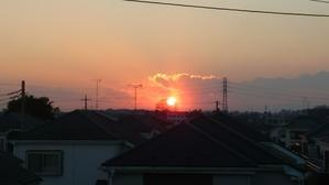 立春の夕日 -