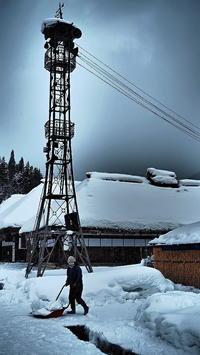 火の見櫓雪国の生活 - 風の香に誘われて 風景のふぉと缶