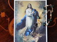 三日月の聖母 ☽ Virgin Mary and the crescent moon - ももさへづり*うた暦*Cent Chants d' une Chouette