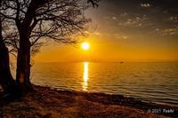 琵琶湖夕陽 - toshi の ならはまほろば