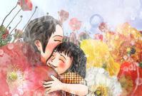 ★朝日峠展望公園、梅の花 - 羽根をつけて
