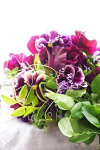 パンジーのブーケドマリエでブーケ専科卒業(#^.^#) - お花に囲まれて
