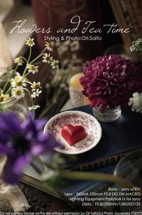 花とスイーツに恋するテーブルフォト SIGMA 105mm F2.8 DG DN MACRO Art + ProfotoA1x + sony α7R IV 実写 - さいとうおりのお気に入りはカメラで。