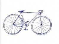 自転車がいっぱい - 絵を描きながら