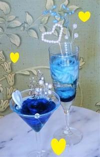 水中花・ブルー&ハート💖 - 軽井沢プリフラdiary