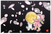 ★月をゲット♪ - 羽根をつけて