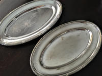 シルバープレート楕円皿175,176 - スペイン・バルセロナ・アンティーク gyu's shop