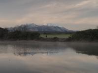 冷え込んだ夜明け - 大山山麓、山、滝、鉄道風景