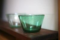 あわガラスグリーン - 宙吹きガラスの器