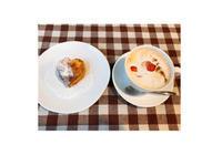 バレンタインのハートスコーンといちごミルクティー - 一ツ星紅茶堂